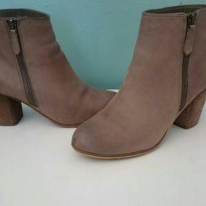 BP trolley ankle booties in taupe